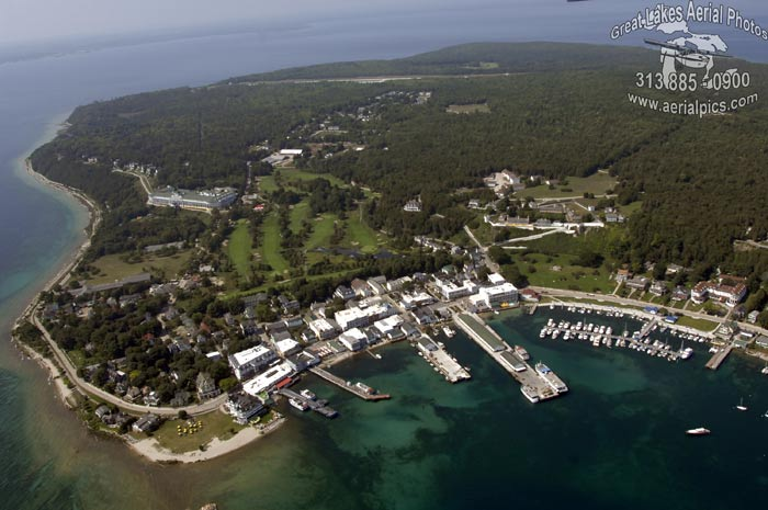 Download this Mackinac Island Biddle Point Main Street Grand Hotel picture